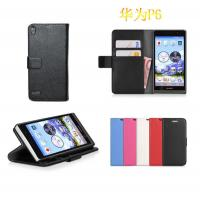 Buy cheap Huawei ascend P6 wallet purse leather case cover piel capa funda hulle coque Custodia from wholesalers