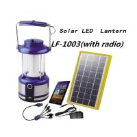 China Solar Camping Lights Portable Solar Lantern With Built-in FM Radio 5 in 1 USB Charger on sale