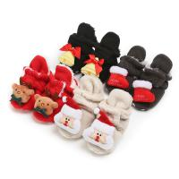Buy cheap 2019 hot Merry Christmas Flannel warm Cartoon infant shoes socks baby boots from wholesalers