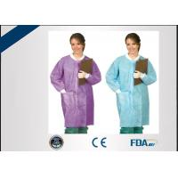 Buy cheap Odorless Disposable Lab Coats , Non Irritating Disposable Medical Gowns from wholesalers