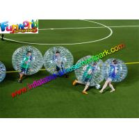 Buy cheap 100% TPU Inflatable Bubble Football , Zorb Bumper Ball For Team from wholesalers