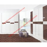 Buy cheap Hotel Interior Design by project Furniture in-wall Wardrobe cabinet high glossy melamine from wholesalers