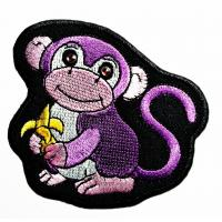 Buy cheap Animals Monkey Custom Iron On Patches Fabric Woven For Garment Jacket Clothing from wholesalers