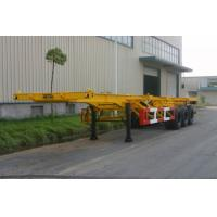 Buy cheap 20ft / 30ft Gooseneck Rear 3 FUWA Axles Carbon Steel Container Trailer Chassis from wholesalers