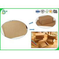 Buy cheap Multi - laminated Kraft Liner Paper 250gsm - 450gsm Or Customized Size Brown Solid Board For Printing from wholesalers