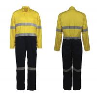 Buy cheap 100% cotton fabric safe Overalls Or Coveralls , snaps front closure orange or lime AS/NZS CLASS D/N product