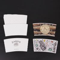 Buy cheap Hot paper cup sleeve,custom paper coffee cup sleeve with logo,coffee paper cups from wholesalers