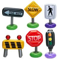 Buy cheap Outdoor or Indoor Inflatable Kids Float , 6-pc Incredible Inflatable Traffic Signs from wholesalers