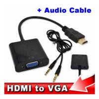 Buy cheap Wholesale HDMI to VGA with Audio Cable M/F 1080p HDMI to VGA Converter for Xbox 360 PS3 from wholesalers