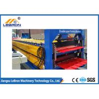 Buy cheap Color steel tile , corrugated roof double layer roof sheet roll forming machine / double layer roll forming machine from wholesalers