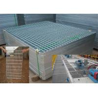 Buy cheap Mild Steel Grating Plate Anti Skid , Light Weight Metal Grate Sheet For Stair Tread from wholesalers