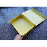 Buy cheap Yellow Carton Hard Cardboard Gift Boxes , Magnet Flat Custom Size Gift Boxes product
