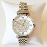 Buy cheap Wholesale Emporio Armani Women New Watch Silver White Dial Genuine Retro Classic AR1925 AR1926 from wholesalers