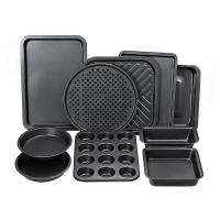 Buy cheap Complete Bakeware Set 10-Piece Non-Stick, Oven Crisper, Pizza Tray, Roasting, Loaf, Muffin, Square, 2 Round Cake Baking from wholesalers