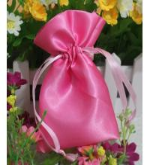 Buy cheap Small Pink Fabric Satin Dawstring Bag Eco-friendly Drawstring Bags from wholesalers