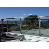 Buy cheap Post Glass Railing Building Railing Outdoor Glass Balustrade Systems from wholesalers