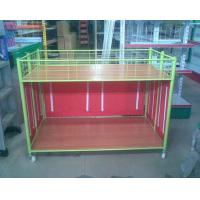 Buy cheap Steel Supermarket Clothes Promotion Cart / Hand Push Exihibition Display Table from wholesalers