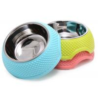Middle Size Multi Color Plastic Dog Food Bowls 13.5cm 205g Household OEM Accepted