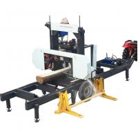 Buy cheap Wood log Cutting Sawmill Portable lumber bandsaw mill with hydraulic log loading arm from wholesalers
