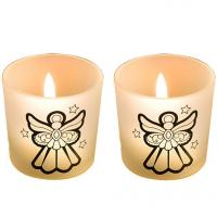 Buy cheap Angel Glass Votive Candle Holders from wholesalers