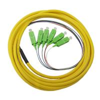 Buy cheap 6F Fanout Single Mode Fiber Pigtails , High Performance SM Sc Apc Pigtail from wholesalers
