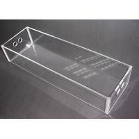 Buy cheap Clear Perspex Acrylic Storage Boxes Customized Crystal For Jewelry Donation product