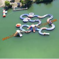 Buy cheap 0.9mm PVC Tarpaulin Crooked Inflatable Amusement Park  For Water Sports from wholesalers