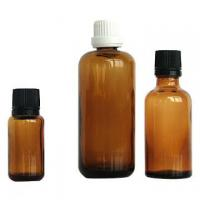 Buy cheap Amber Colored Essential Oil Glass Bottles 100ml 30ml 10ml with Cap Dropper from wholesalers