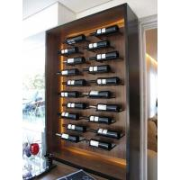 Buy cheap 20 Bottles Wooden Wall Mounted Wine Rack / Liquor Bottle Rack With LED Lights from wholesalers