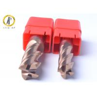 Buy cheap Square 4 Flute Carbide End Mill Cutter For Side Machining Hardeness Material from wholesalers