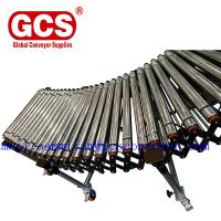 Buy cheap Double Row Telescopic Skate Roller Conveyor/cut to length line roller unloading table/Flexible telescopic screw roller c from wholesalers