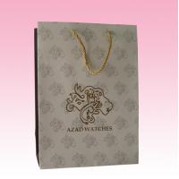 Buy cheap custom luxury recycled paper packaging bag factory with embossed gold logo from wholesalers