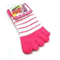 Buy cheap Fashion knitting acrylic  five fingers ankle toe Dobby socks for girls with logo from wholesalers