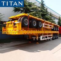 Buy cheap TITAN Tridem Axle 20/40FT Shipping Container Flatbed Trailer Prices from wholesalers
