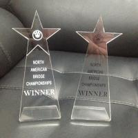 Buy cheap Top Grade Blank Simple Acrylic Trophies And Awards Engraved Logo Award Trophy from wholesalers