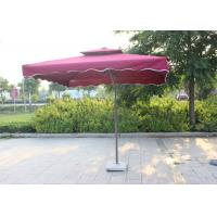 Buy cheap Polyester Red Dyed Extra Large Patio Umbrella , Backyard Square Sun Umbrella Parasol product