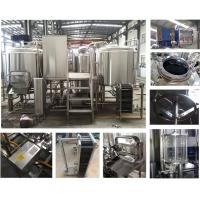 Buy cheap 0.15 - 0.3Mpa 800l Micro Beer Brewing Equipment SS304 / 316 / Copper Material from wholesalers