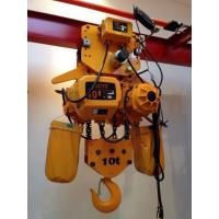 Buy cheap Yellow Color 10 Ton Chain Hoist With Hook , Chain Electric Hoist High Speed from wholesalers