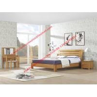 Buy cheap Large-sized apartment Furniture bedroom set by solid wood legs and MDF melamine bed with open mirror dresser product