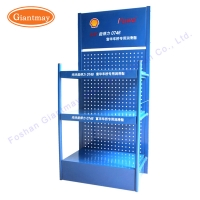 Buy cheap Gas Metal Rack Mobil Oil Retail Bottle Display Stand from wholesalers