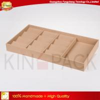 Buy cheap Camel velvet display trays for 12 sunglasses display and jewelry display from wholesalers