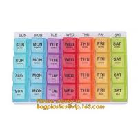 Buy cheap week pill box 7 day Medicine Pill box for health care,Customized logo Hot sales colorful plastic pill box,7 day pill box from wholesalers