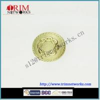 Buy cheap Alloy jeans metal button maker with plastic 22.5MM & 12MM HVS gold grid pattern button from wholesalers