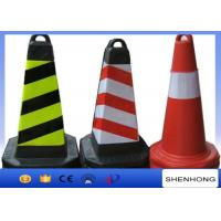 Buy cheap Safety Overhead Line Construction Tools Red PVC Traffic Cones With Reflective Tape from wholesalers