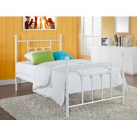 Buy cheap Victorian Elegant Full Size Metal Beds , White Wrought Iron Bed Frame from wholesalers