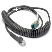 Buy cheap CBA-U14-C09ZAR Coiled 12V powered USB to RJ45 10P10C Cable for Motorola Symbol Scanner from wholesalers