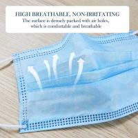 Buy cheap Sterility Influenza 3 Ply Surgical Face Mask Disposable Mouth Face Blue Color from wholesalers
