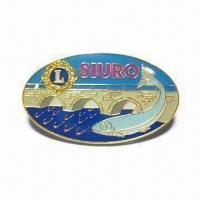 Buy cheap Finest Lapel Pin with Epoxy Cover for Each Printing and Lead-free from wholesalers