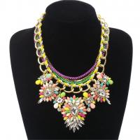 Buy cheap 2015 Hot Fashion multi-layer necklaces Multicolor flower Brand Necklace from wholesalers