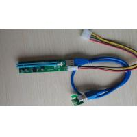 Buy cheap Molex Powered Pcie Riser Cable , USB PCI-Express PCI-E x1 To x16 Riser Card from wholesalers